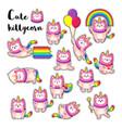 cute cartoon doodle cats vector image vector image