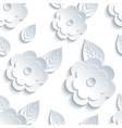 Decorative seamless pattern with flowers and leaf vector image vector image