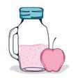 delicious apples juice vector image