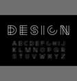 designer modern font - minimalistic vector image vector image