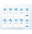 digitalization onboarding mobile app page screen vector image
