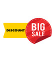 discount big sale yellow red ribbon tag ima vector image