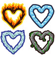 elemental hearts vector image