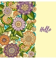 Floral card Colored hand drawn pattern with vector image vector image