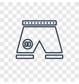 football shorts concept linear icon isolated on vector image