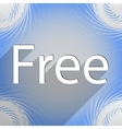 Free icon symbol Flat modern web design with long vector image vector image