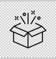 gift box icon in transparent style magic case on vector image vector image