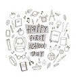 happy first school day vector image