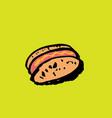 hotdog grunge icon vector image