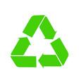 icon recycle green symbol reuse logo vector image