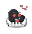 in love piano mascot cartoon style vector image