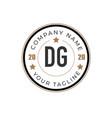 initial letter dg elegance logo design template vector image vector image