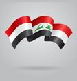 Iraqi waving Flag vector image