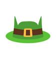 leprechaun hat green isolated national irish vector image