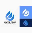 letter e water drop logo design abstract emblem vector image vector image