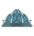 Lotus temple architecture vector image vector image