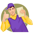 Mail carrier with a letter vector image