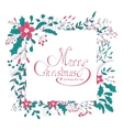 Merry Christmas hand lettering greeting card vector image vector image