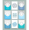 Modern cards design template vector image vector image