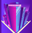 modern skyscrapers buildings isometric vector image vector image