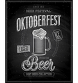 octoberfest chalk vector image vector image
