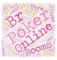 online poker rooms3 1 text background wordcloud vector image vector image