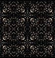 ornate black guipure lace seamless pattern vector image vector image