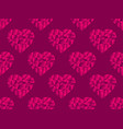 polygonal hearts seamless pattern red color happy vector image vector image