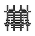prisoner shirt in prison grayscale icon eps10 vector image