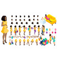 quality isometry 3d pregnant african american vector image vector image