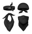 realistic black bandana face buff and