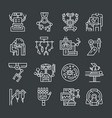 robotic surgery icons vector image vector image