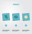 set of icons flat style symbols with cance vector image vector image