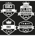 Set of Vintage SKI and Snowboard Club Badge Label vector image vector image