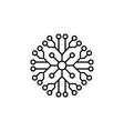 snowflake icon christmas and winter theme simple vector image