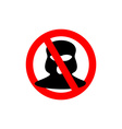 Terrorism is forbidden Red forbidding sign for vector image