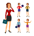 Three different body beautiful brunette vector image vector image