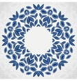 Traditional blue round sunflowers pattern frame vector image vector image