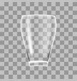 transparent glass vase vector image vector image