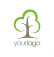 tree abstract logo vector image vector image
