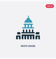 two color white house icon from united states vector image