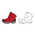 winter womens and childrens shoes on a white vector image