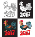 year of rooster bird vector image