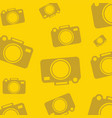yellow background with silhouette icons for photo vector image vector image