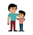 young man with kid vector image