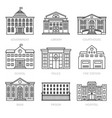 education and government thin line buildings vector image