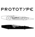 Prototype car vector image