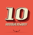 10 year an2 vector image