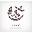 running people sign 3d vector image