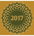 2017 year decorated with abstract vector image